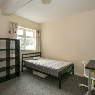 Typical ensuite room in Winton Halls student accommodation and flats
